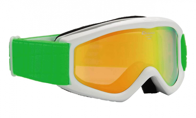 Fürski - Alpina Carat D Multimirror Kinderskibrille (Farbe 812 weiß grün, Scheibe MULTIMIRROR, orange) - Onlineshop