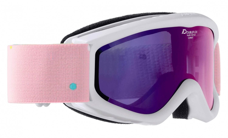Fürski - Alpina Carat D Multimirror Kinderskibrille (Farbe 813 weiß, Scheibe MULTIMIRROR pink) - Onlineshop