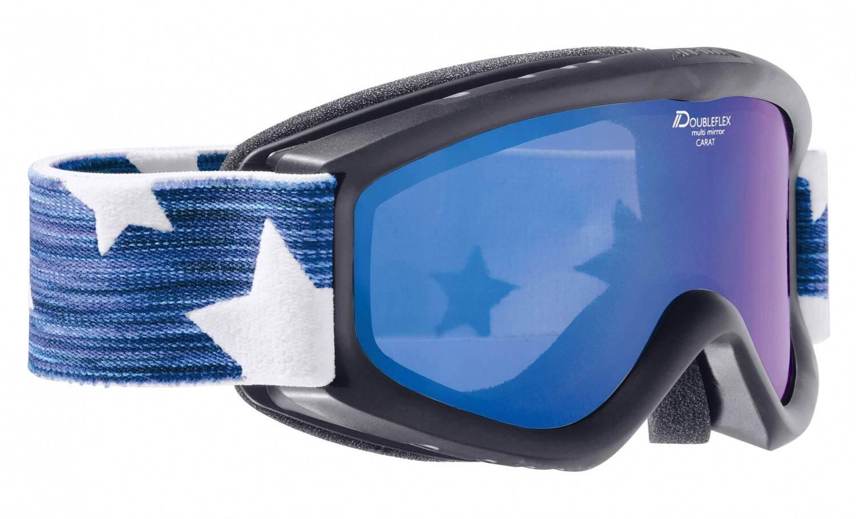 Fürski - Alpina Carat D Multimirror Kinderskibrille (Farbe 832 schwarz, Scheibe MULTIMIRROR blau) - Onlineshop