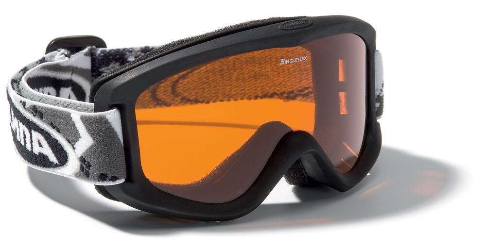 Fürski - Alpina Carvy 2.0 Kinderskibrille (Farbe 431 schwarz, Scheibe SINGLEFLEX tint (S2)) - Onlineshop