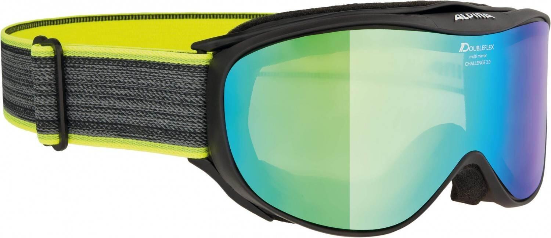 alpina-challenge-2-0-m-brillentr-auml-ger-skibrille-farbe-839-black-neon-scheibe-mirror-gr-uuml-