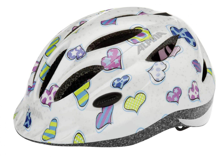 Fürfahrräder - Alpina Gamma 2.0 Kinder Fahrradhelm (Größe 51 56 cm, 12 hearts) - Onlineshop