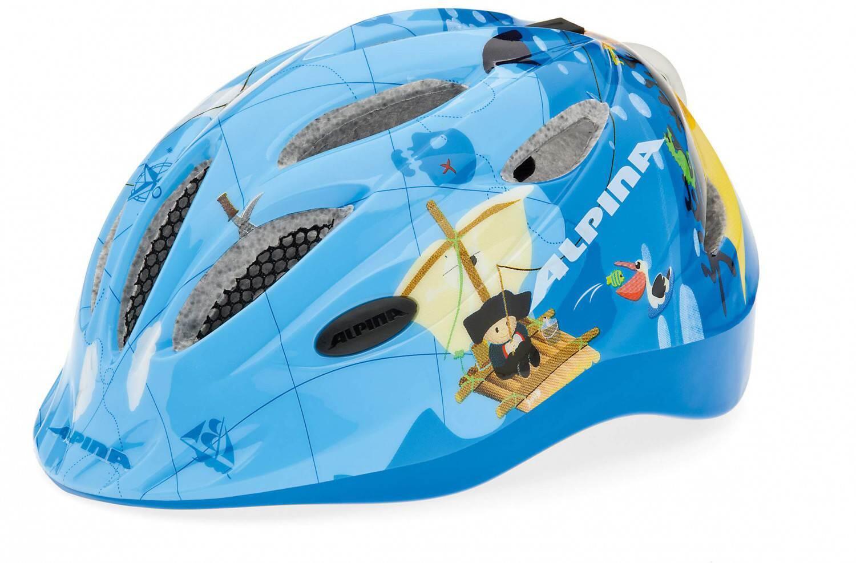 Fürfahrräder - Alpina Gamma 2.0 Flash Kinderfahrradhelm (Größe 51 56 cm, 84 pirate) - Onlineshop