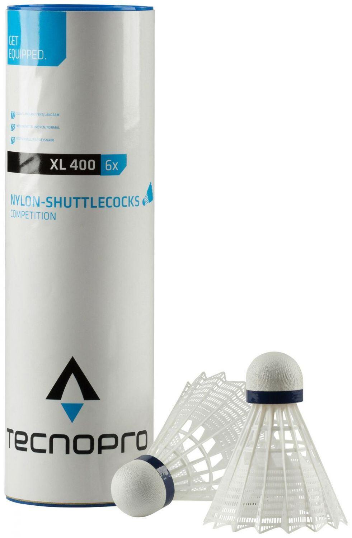 tecnopro-badmintonball-xl-400-6-er-geschwindigkeit-mittel-medium-001-wei-szlig-