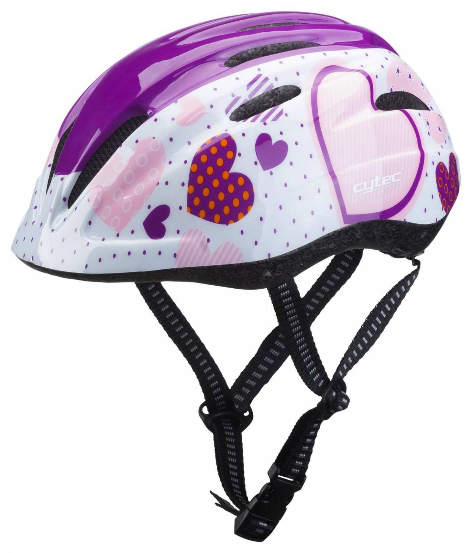 Fürfahrräder - Cytec Yangsta Kinderfahrradhelm (Farbe 030 pink heart, 48 52 cm) - Onlineshop