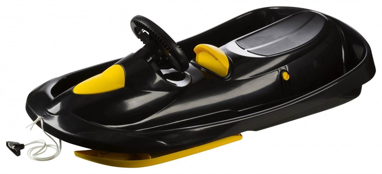 Schlitten - Hamax Bob Sno Action Kunststoff Rodel (Farbe 900 schwarz gelb) - Onlineshop