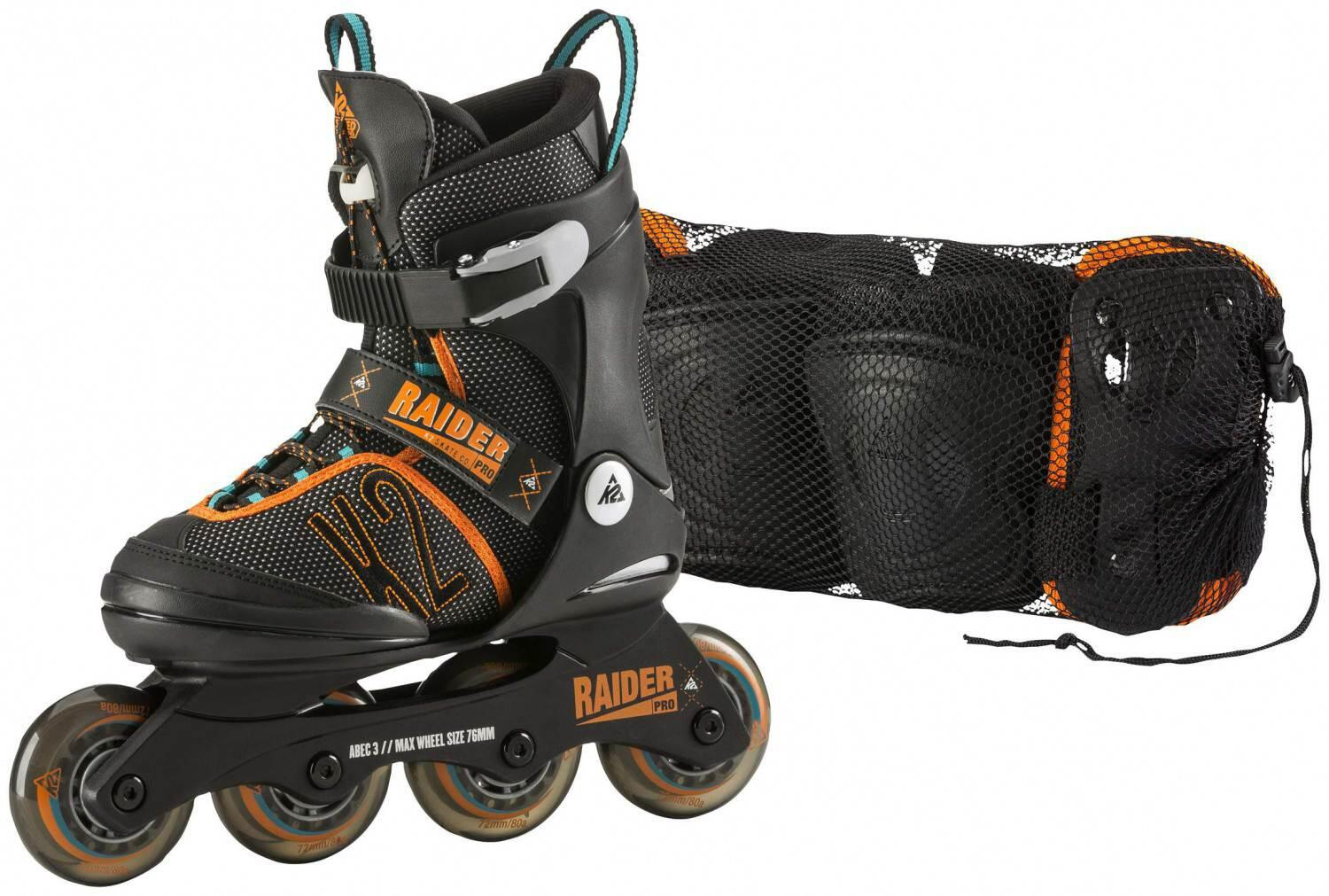 Inliner - K2 Raider Pro Pack Junior Inlineskate Set (Größe 32.0 37.0 (M), 1 design) - Onlineshop