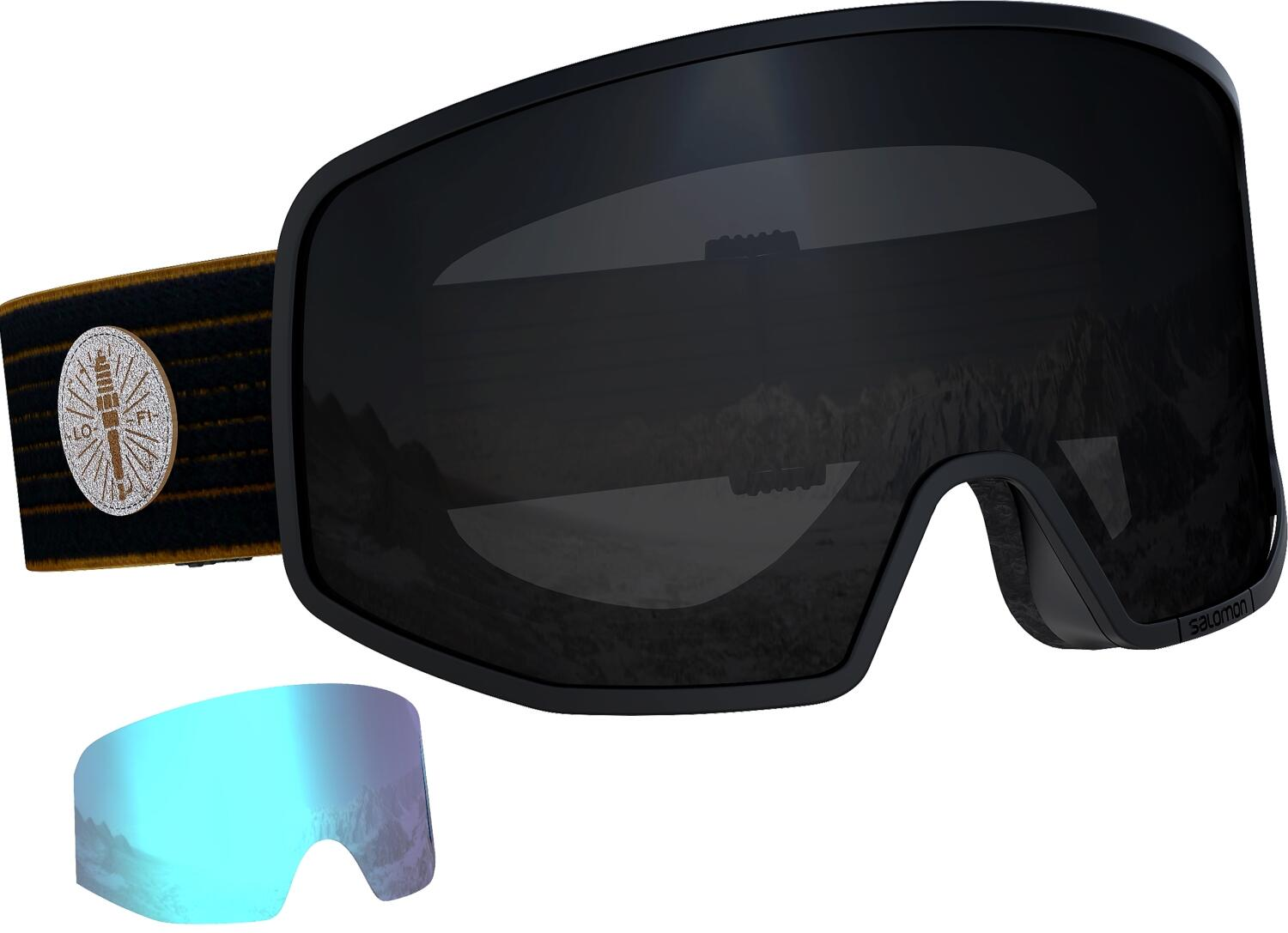 salomon-lo-fi-skibrille-farbe-caf-egrave-racer-scheibe-black-extra-scheibe-light-blue-