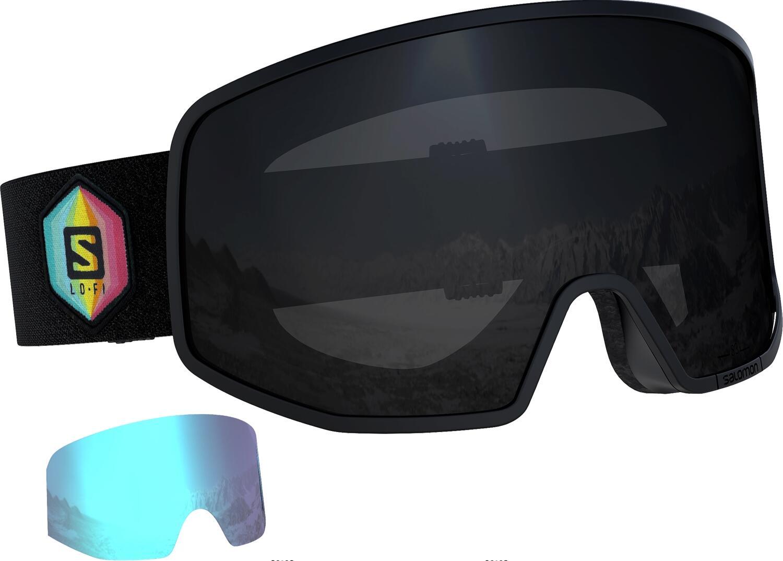 salomon-lo-fi-skibrille-farbe-black-scheibe-black-extra-scheibe-light-blue-