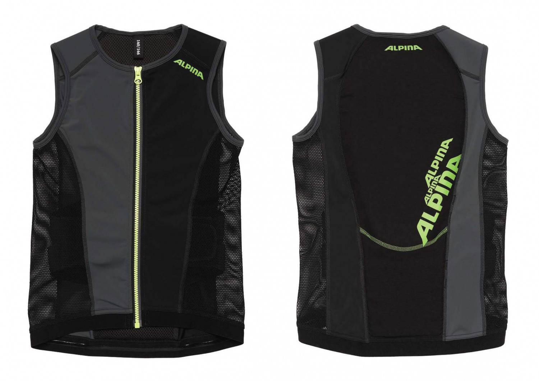 Alpina Jacket Soft Protector Junior Vest (Größe: Körpergröße ca. 116 bis 122 cm, 30 black)