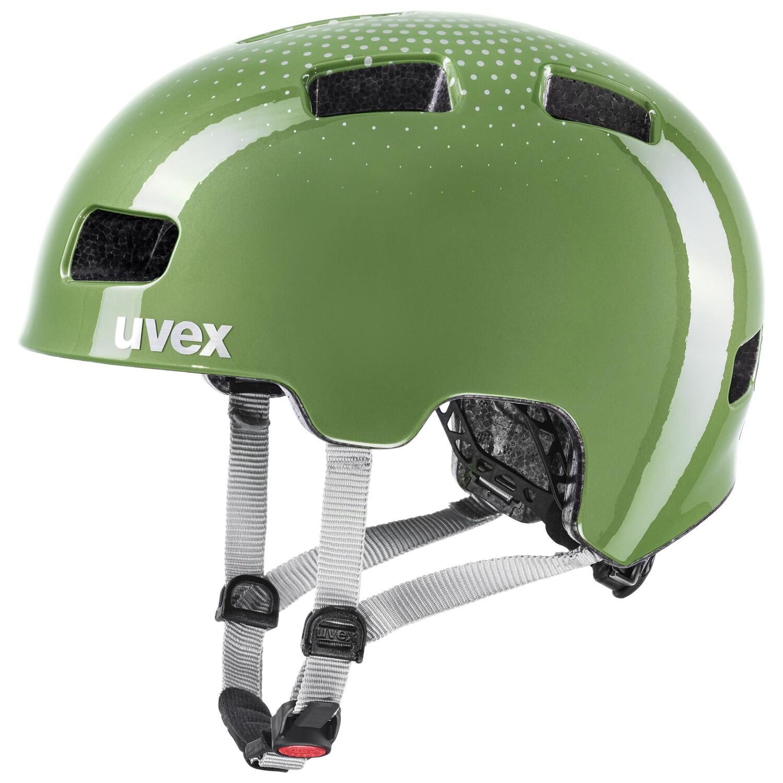 uvex HLMT 4 Kinder Fahrradhelm (Farbe 55 58 cm, 07 moss green)