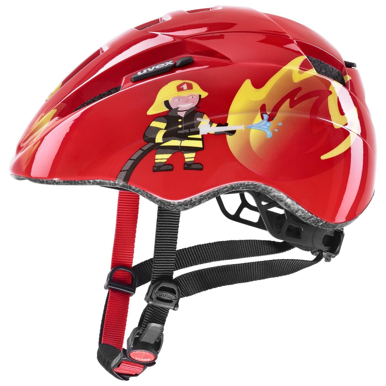 Fürfahrräder - uvex Kinderradhelm Kid 2 (Größe 46 52 cm, 30 red fireman) - Onlineshop