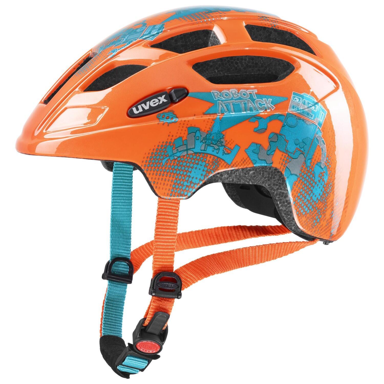 Fürfahrräder - uvex Finale Kinderfahrradhelm (Größe 51 55 cm, 19 orange robot) - Onlineshop