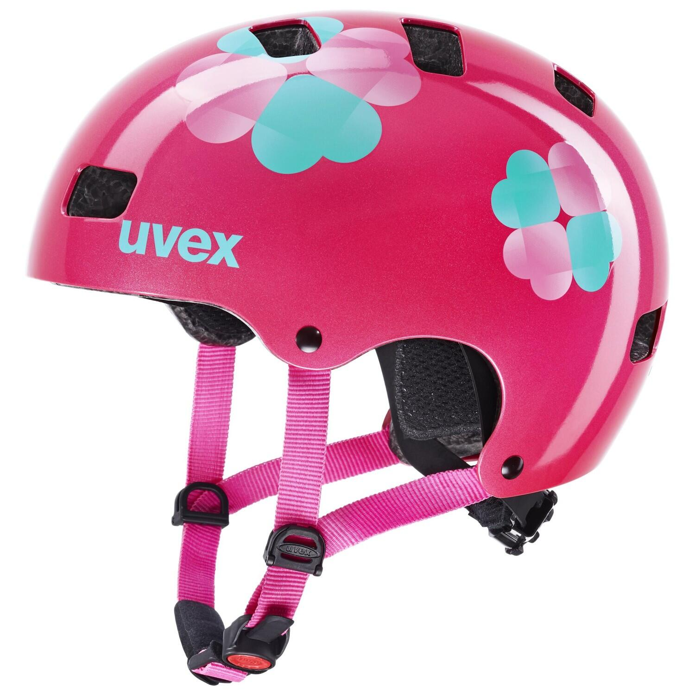 Fürfahrräder - uvex Kid 3 Kinder Fahrradhelm (Größe 55 58 cm, 33 pink flower) - Onlineshop