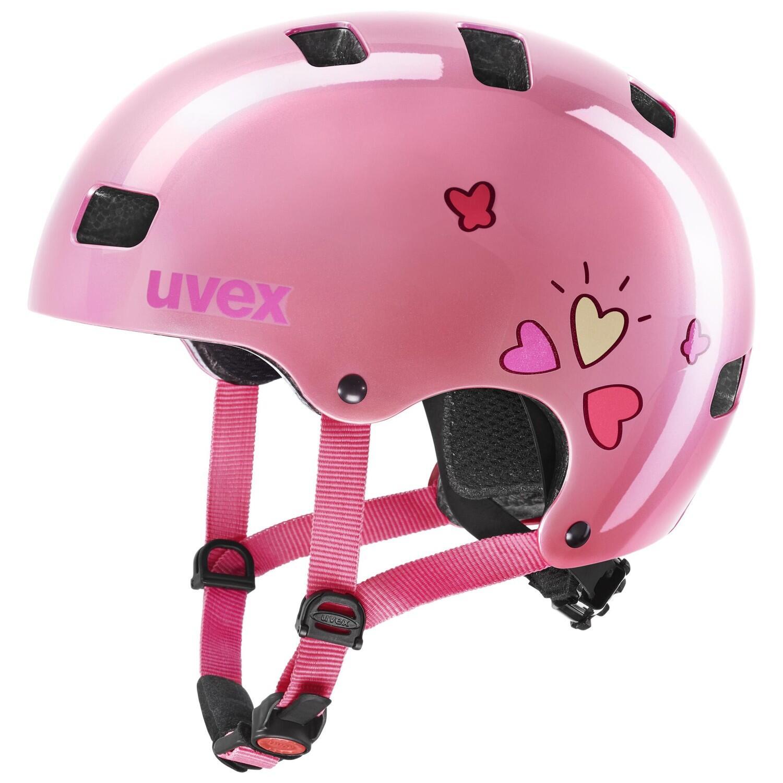 Fürfahrräder - uvex Kid 3 Kinder Fahrradhelm (Größe 55 58 cm, 34 pink heart) - Onlineshop