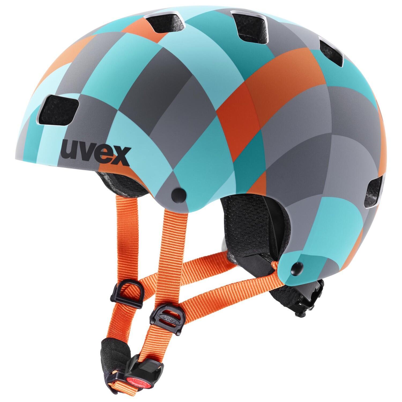 uvex Kid 3 cc Kinder Fahrradhelm (Größe 55 58 cm, 11 green checkered)