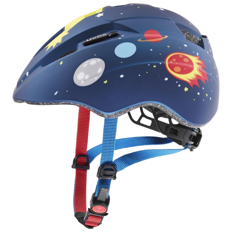 Fürfahrräder - uvex Kinderradhelm Kid 2 cc (Größe 46 52 cm, 03 dark blue rocket mat) - Onlineshop