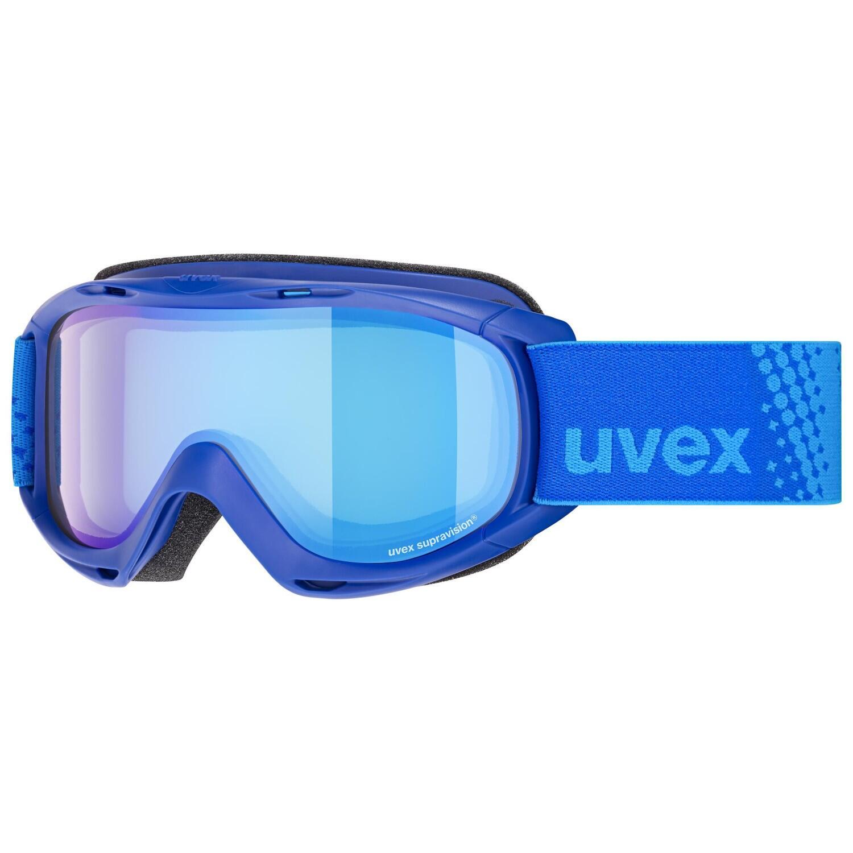 uvex Slider FM Kinderskibrille (Farbe 4130 blue, mirror blue blue (S3))