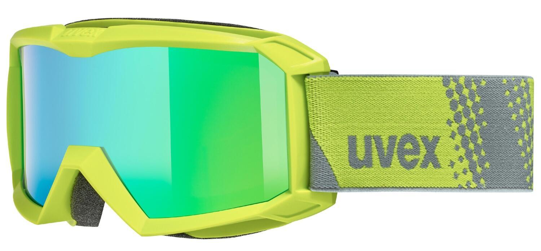 uvex Flizz FM Kinderskibrille (Farbe 7030 lime, mirror green rose (S1))