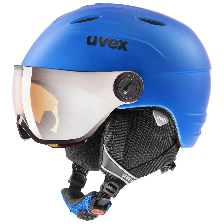 Fürski - uvex Junior Visor Pro Kinderskihelm (Größe 54 56 cm, 93 blue mat) - Onlineshop