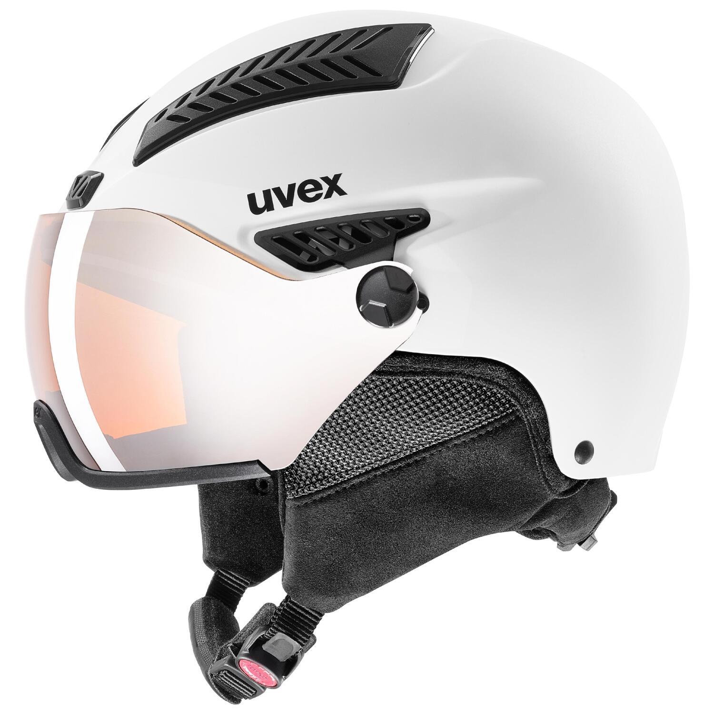 uvex HLMT 600 Visor Skihelm (Größe: 55-57 cm, 10 white mat)