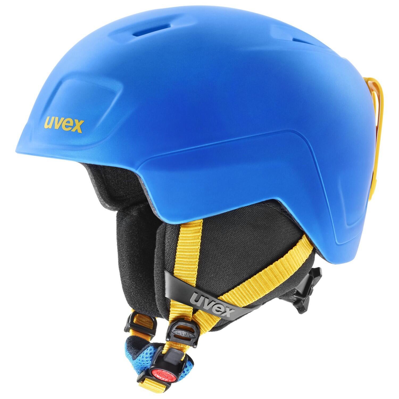 uvex Heyya Pro Kinder Skihelm (Größe 54 58 cm, 20 blue yellow mat)