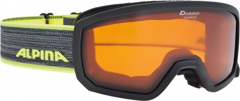 alpina-scarabeo-junior-skibrille-dh-farbe-132-black-neon-scheibe-doubleflex-hicon-