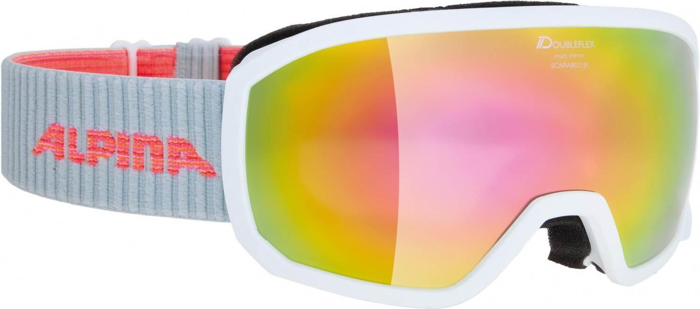 alpina-scarabeo-junior-brillent-auml-ger-skibrille-hm-farbe-811-white-scheibe-mirror-pink-s3-