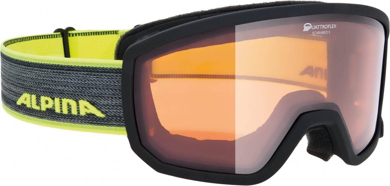 alpina-scarabeo-small-skibrille-qh-farbe-032-black-neon-scheibe-quattroflex-hicon-