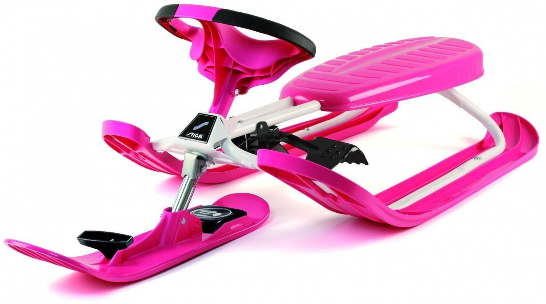 Schlitten - Stiga Snowracer Color Pro (Farbe pink weiß) - Onlineshop