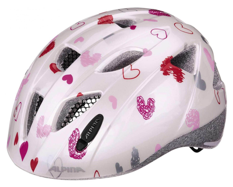 Fürfahrräder - Alpina Ximo Kinderfahrradhelm (Größe 49 54 cm, 11 white hearts) - Onlineshop