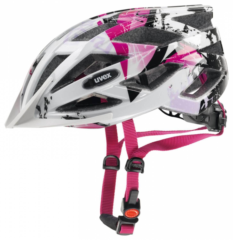 Fürfahrräder - uvex Air Wing Kinderfahrradhelm (Größe 56 60 cm, 01 white pink) - Onlineshop