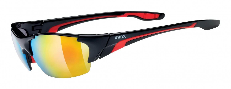 uvex-blaze-iii-sportbrille-farbe-2316-black-red-clear-litemirror-orange-mirror-red-