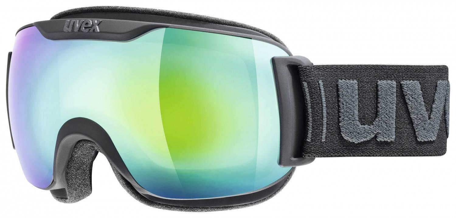 uvex-skibrille-downhill-2000-small-full-mirror-farbe-2026-black-mat-mirror-green-clear-