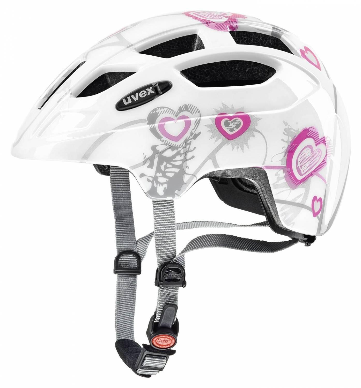 Fürfahrräder - uvex Finale Kinderfahrradhelm (Größe 51 55 cm, 01 heart white pink) - Onlineshop