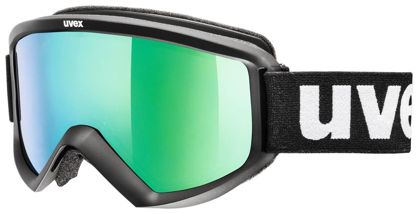 uvex-skibrille-fire-litemirror-farbe-2126-black-mat-litemirror-green-clear-