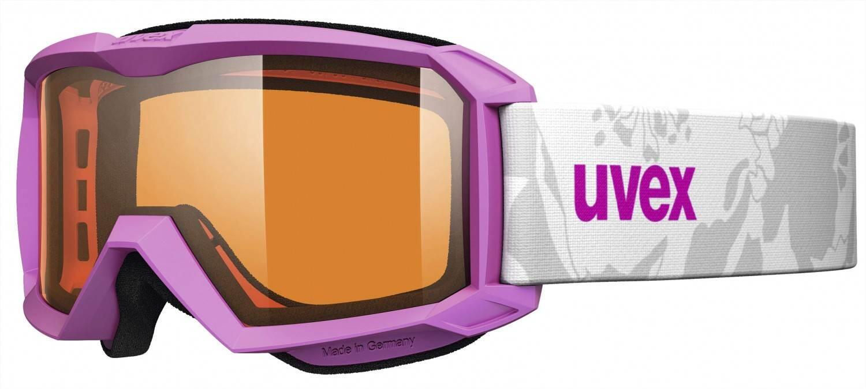 Fürski - uvex Flizz Lasergold Kinderskibrille (Farbe 9012 rose mat, lasergold clear (S2)) - Onlineshop