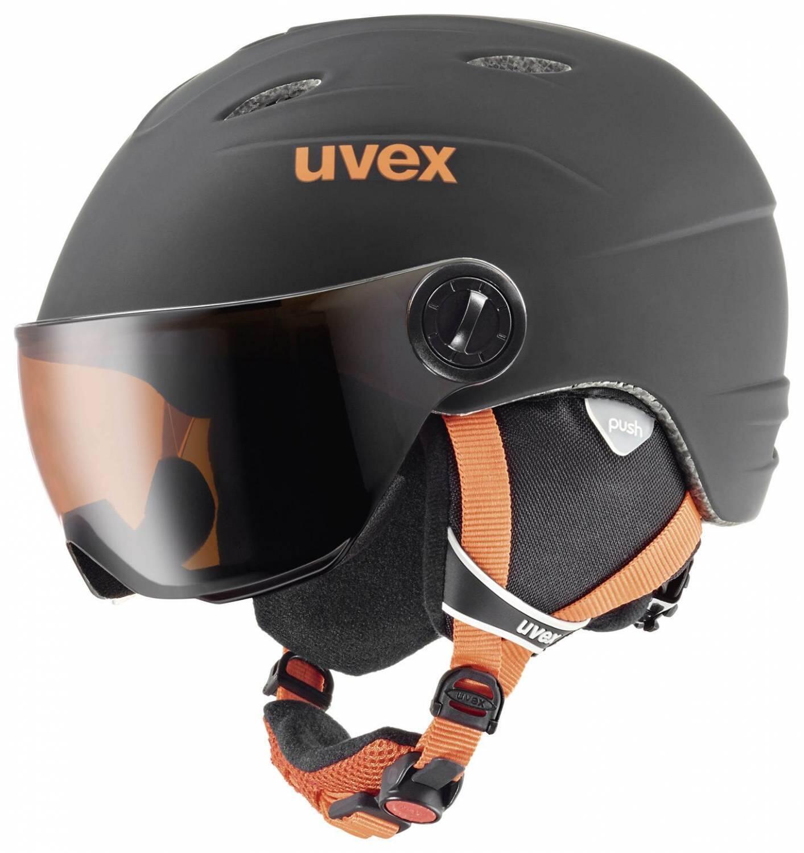 Fürski - uvex Junior Visor Pro Kinderskihelm (Größe 52 54 cm, 28 black orange mat) - Onlineshop