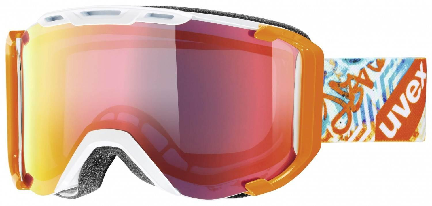 uvex-snowstrike-litemirror-skibrille-farbe-1326-white-orange-mirror-red-clear-