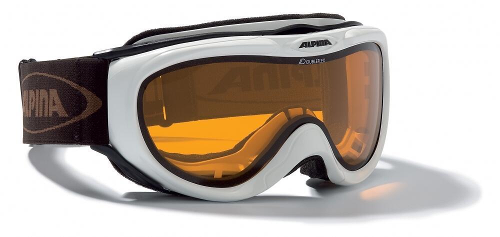 Alpina Freespirit Skibrille (Farbe: 131 schwarz, Scheibe: DOUBLEFLEX)