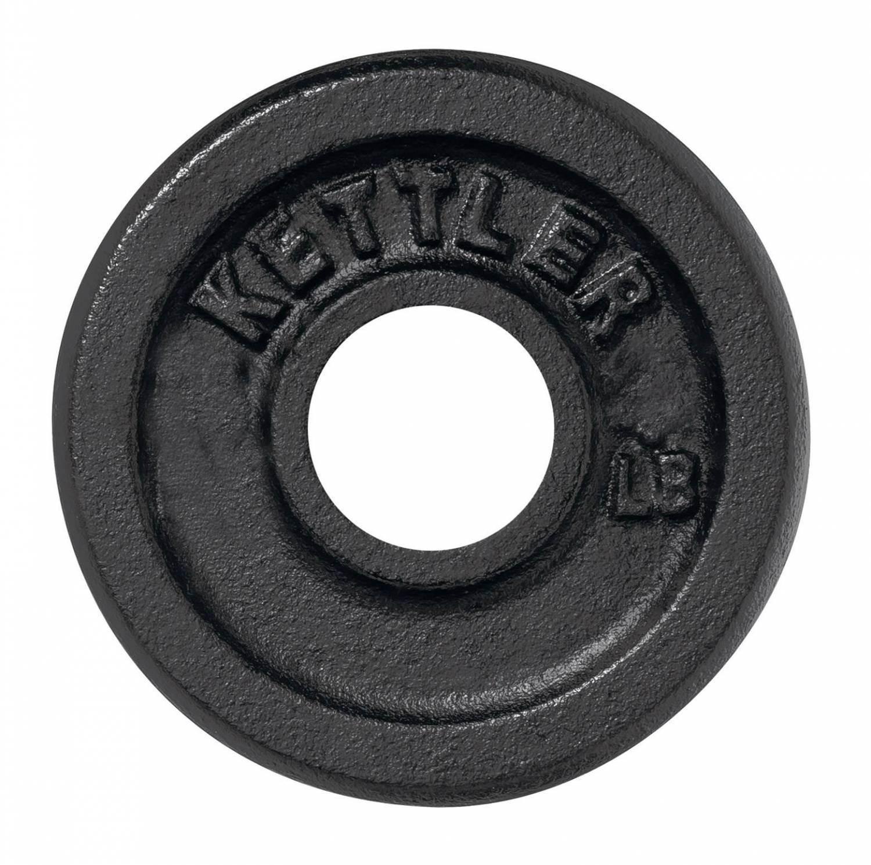 Kettler Guss Hantelscheibe (Inhalt: 1 Stück (1x 1,25 kg), 710 schwarz)