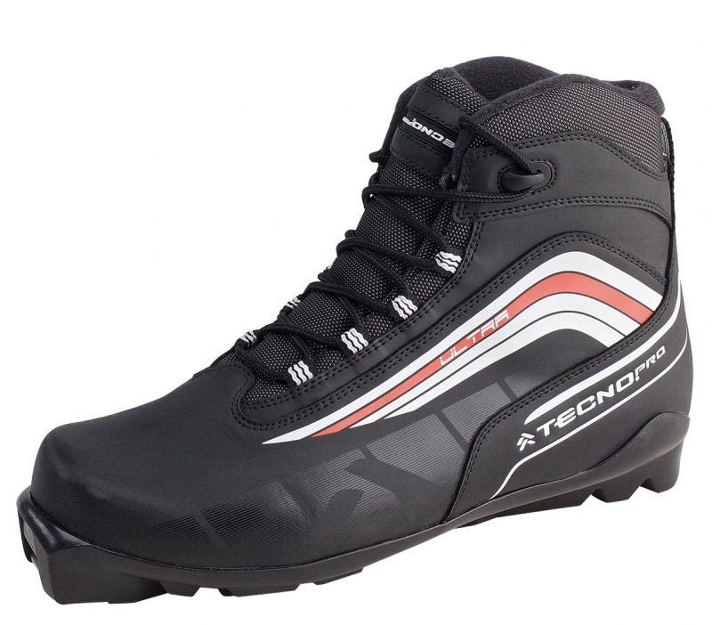TecnoPro Herrenlanglaufschuh Ultra (Schuhgröße: 46.0 (UK=11.0), Farbe: 903 schwarz/weiß/rot)