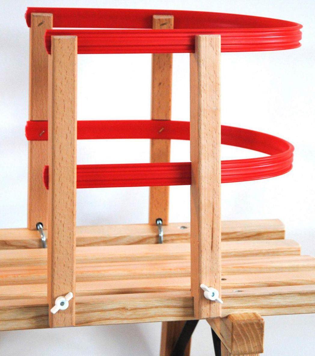 Sirch Kinderlehne Schlitten Holz Kunststoff (Farbe buche esche kunststoff)
