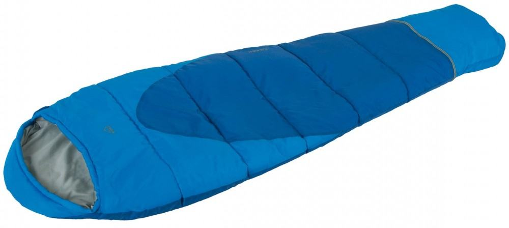 McKinley Racoon EXT Kinder Mumienschlafsack (Reißverschluss: rechts, 901 blau/blau/grau)