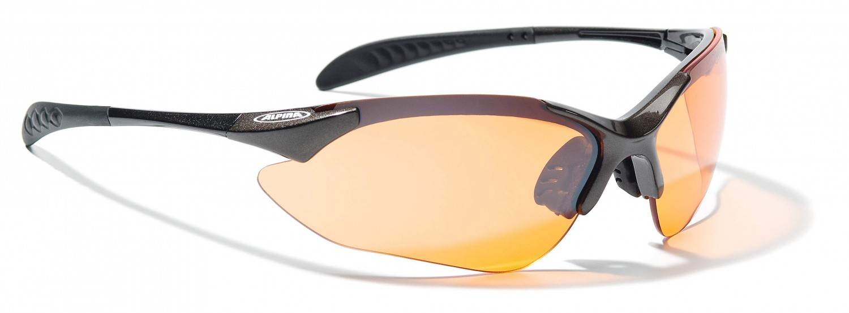 Alpina Tri Quatox Sportbrille (Rahmenfarbe: 425 tin, Scheibe: orange clear black)
