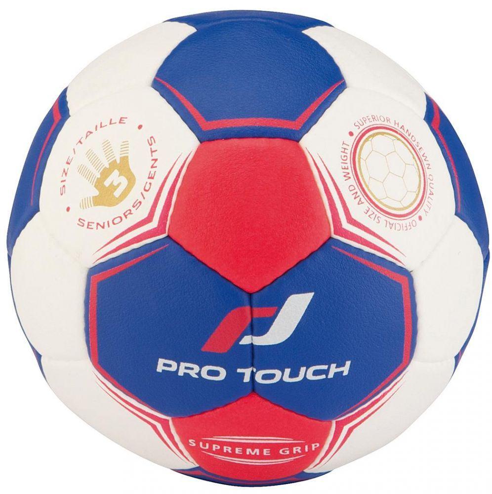 Pro Touch Supreme Grip Handball (Größe: 2 (Damen), Farbe: 900 weiß/blau/rot) Sale Angebote