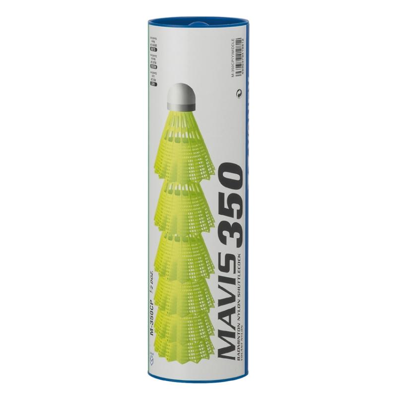 Yonex Badmintonball Mavis 350 (Geschwindigkeit: 078 mittel - blau (Korbfarbe gelb)) Sale Angebote