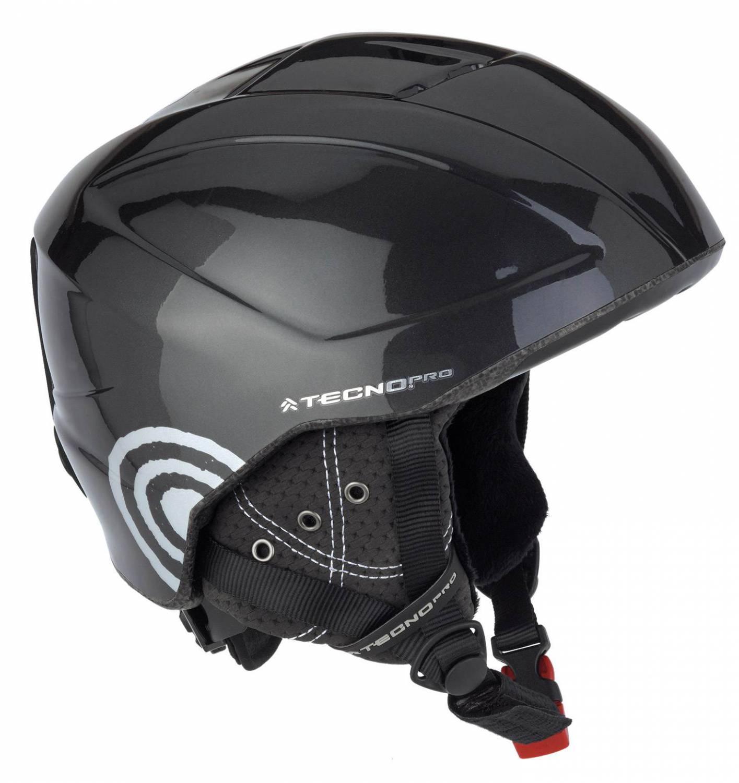 TecnoPro XT2 Junior Kinderskihelm (Größe: 48-51 cm, 904 schwarz/grau)