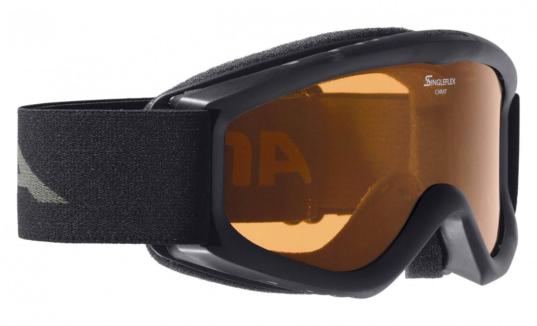 Alpina Carat D Kinderskibrille (Farbe 133 schwarz, Scheibe DOUBLEFLEX Hicon)