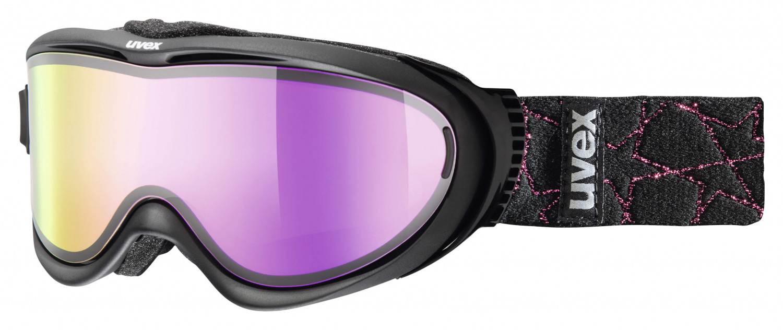 uvex Skibrille Comanche Take Off (Farbe: 2326 black, mirror pink/lasergold lite/clear)